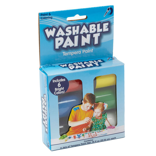 Kids Craft Washable Paint, 6 Jars