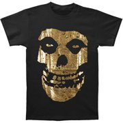 Misfits Men's  Gold Foil Fiend Logo T-shirt Black