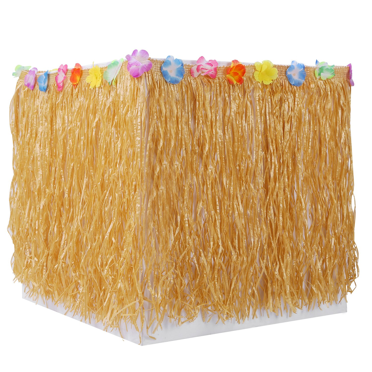 Grass Table Skirt Hawaiian Luau Party Decorations Supplies