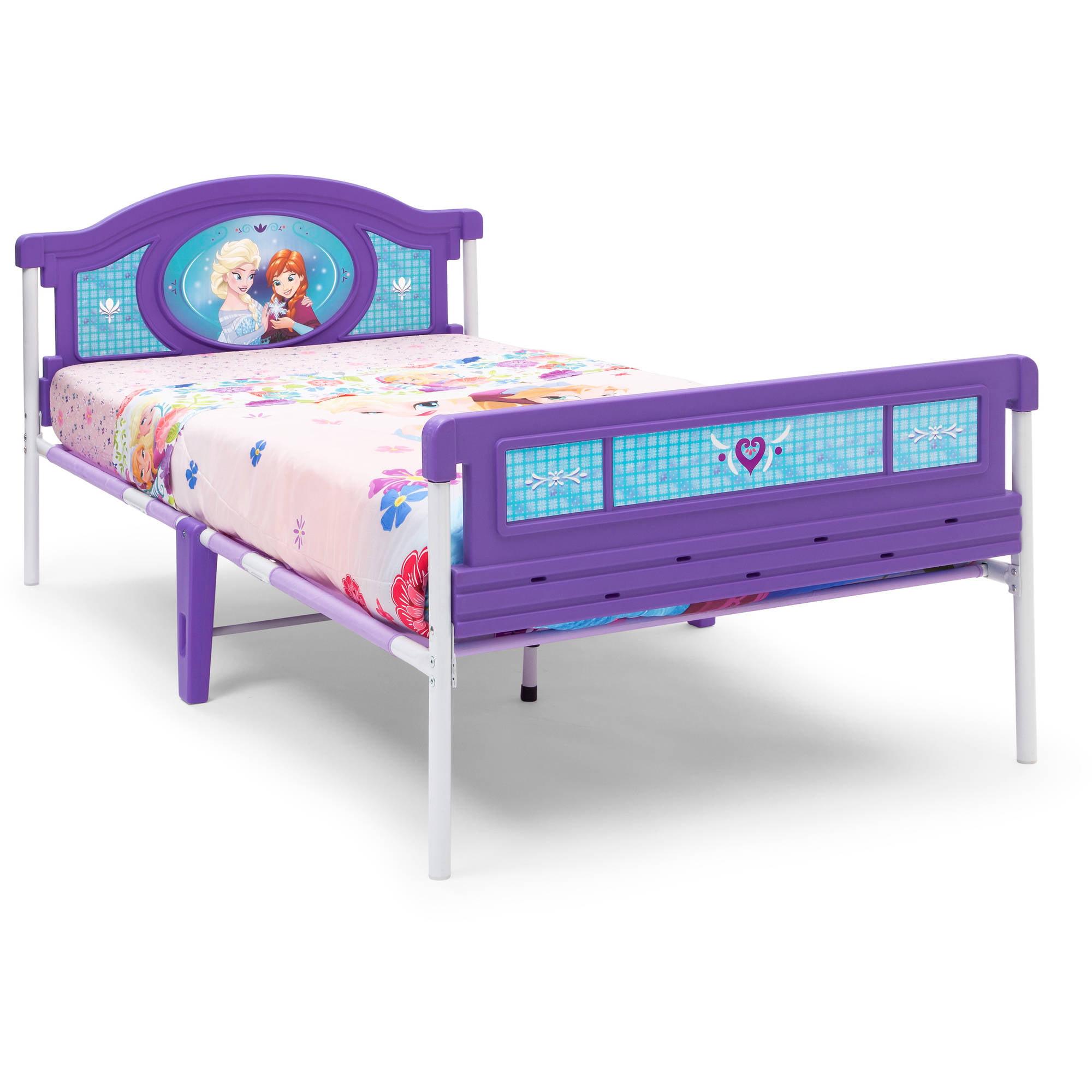 Frozen Plastic Twin Bed With Mattress Bundle Walmart Com