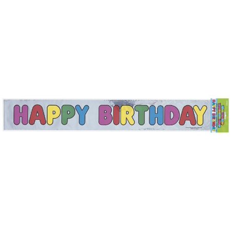 Happy Brithday Banner (Happy Birthday Foil Banner (12 Ft)(1 per)