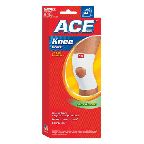 Ace Woven Plus Knee Brace With Side Stabilizers, Small, #7353 - 1 Ea