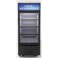 """BCC6Q1BG 22 Commercial Beverage Center with 6 cu. ft. Capacity  3 Adjustable Wire Shelves  Auto Defrost  LED Lighting  and Self Closing Door  in Black"""""""