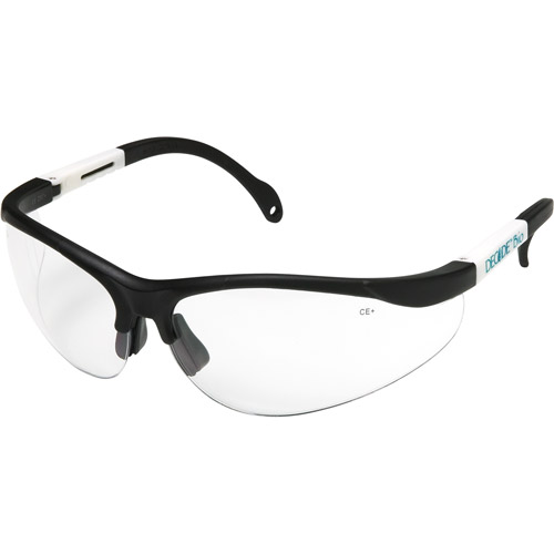 Chase Ergonomics Decade SS Biodegradable Safety Glasses, Clear Lens and Dark Sports Frame