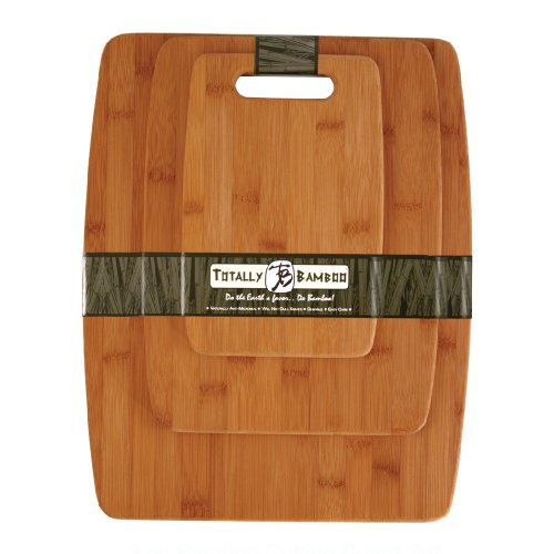 Totally Bamboo 3 Piece Bamboo Cutting Board Set Multi Colored
