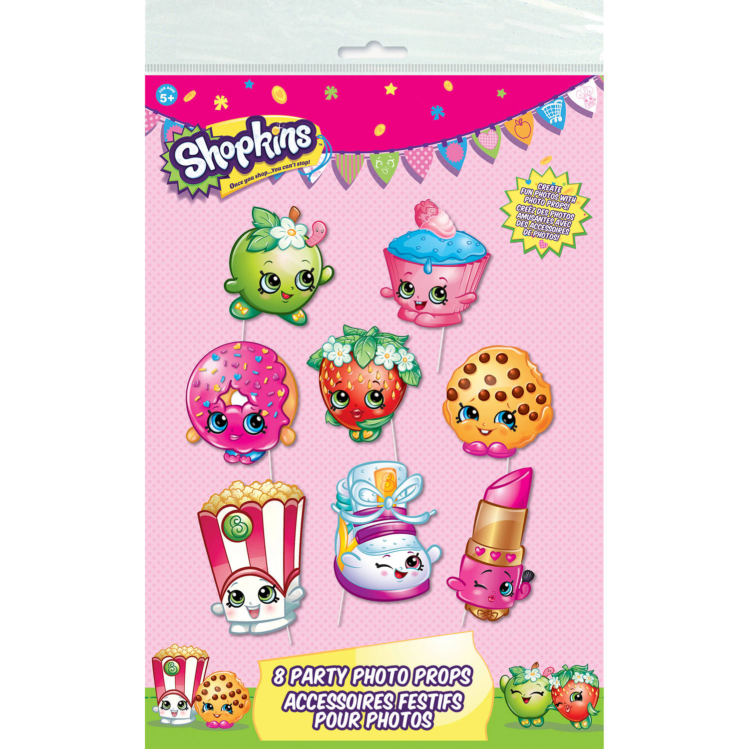 Shopkins Photo Booth Props, 8-Piece