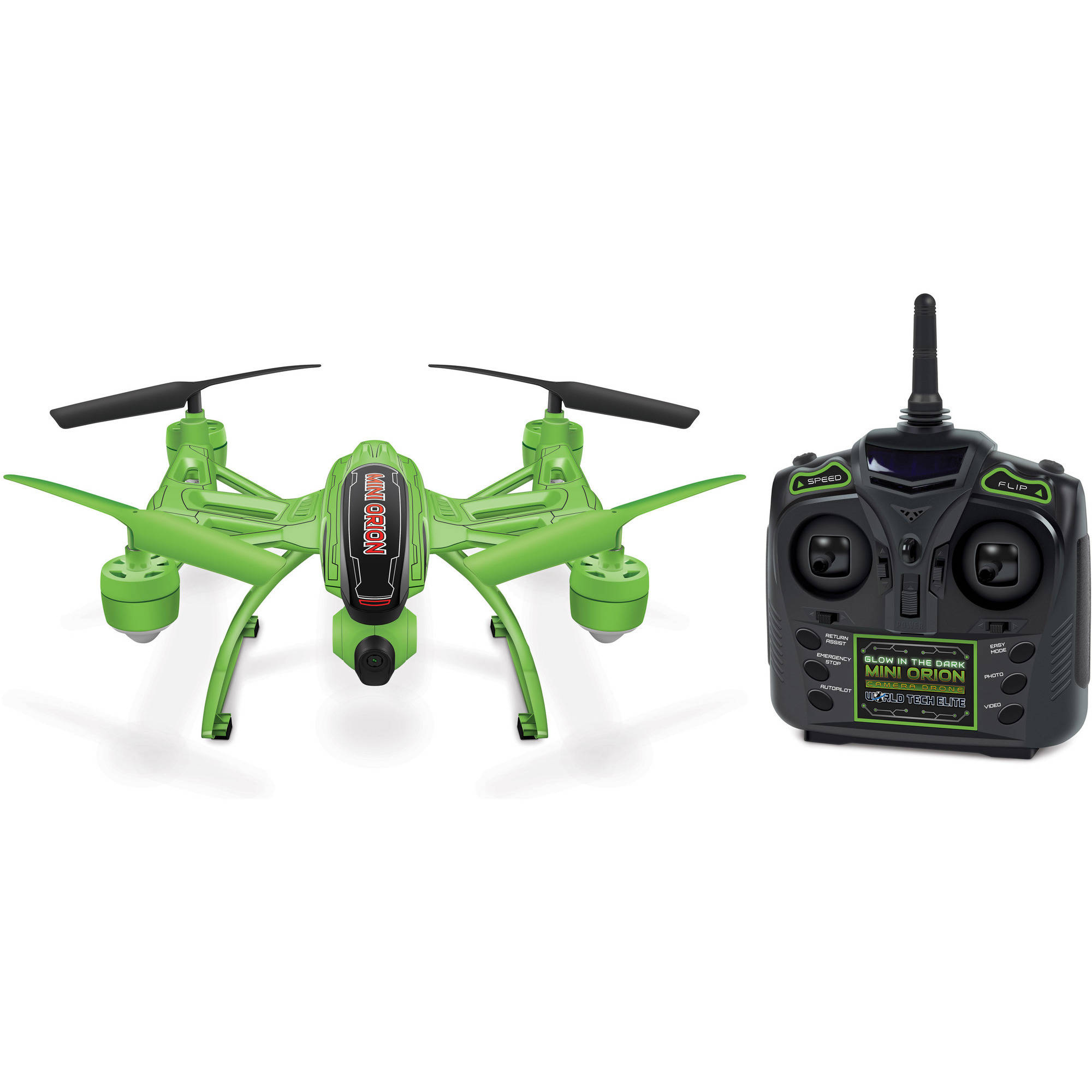 Elite Mini Orion Glow-in-the-Dark 2.4GHz 4.5-Channel HD R C Camera Drone by World Tech Toys