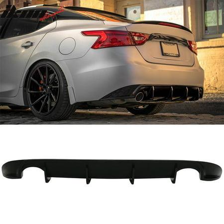 Fits 16-17 Nissan Maxima Sedan Unpainted Black Rear Bumper Diffuser Urethane PU