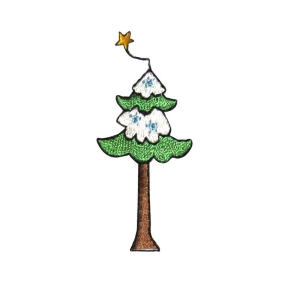 Christmas Tree Patch: ID 8174B Cartoon Pine Tree Patch Christmas Winter