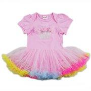 Wenchoice Baby Girls Pink Cupcake Rainbow Tutu Bodysuit