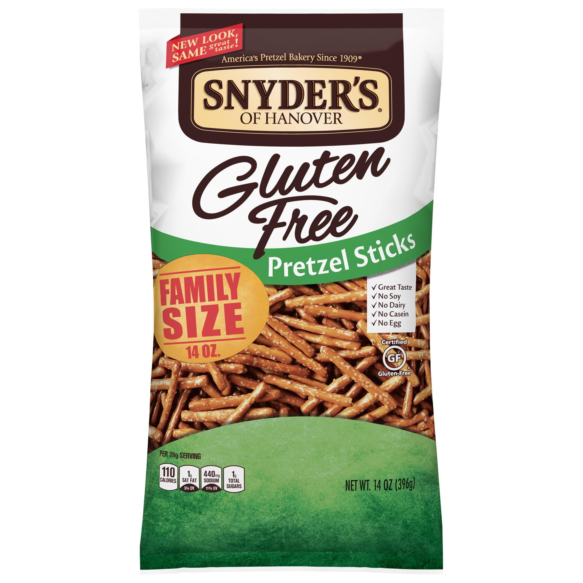 (4 Pack) Snyder's of Hanover Gluten Free Pretzel Sticks Family Size, 14.0 Oz