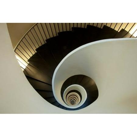 Spiral Staircase Silken Gran Hotel Domine Bilbao Spain Poster Print By Jaynes Gallery