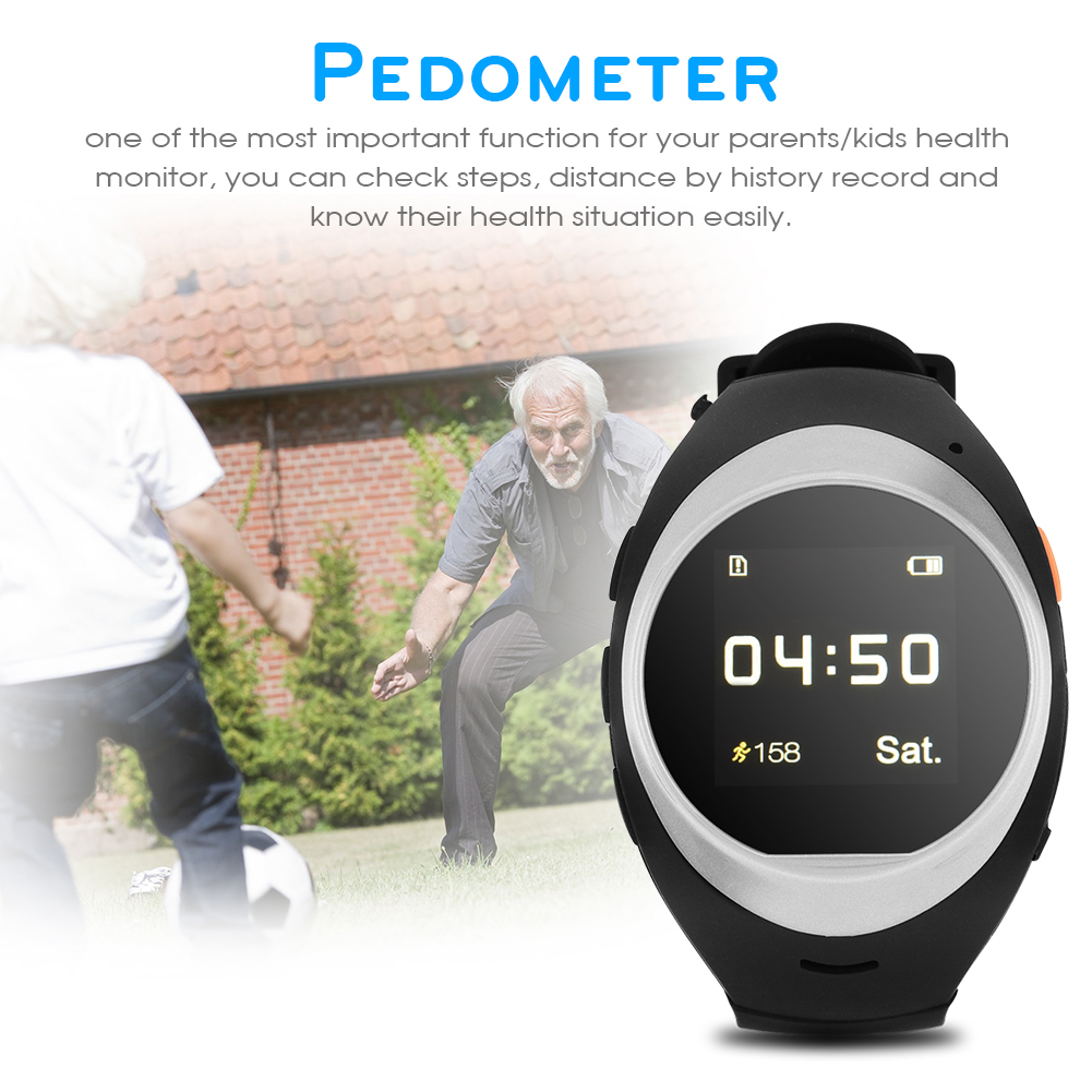 Smart The Old / Kids Watch GPS LBS Tracker Locator SIM SOS Call Remote Monitor for Android iOS, Anti-lost Watch