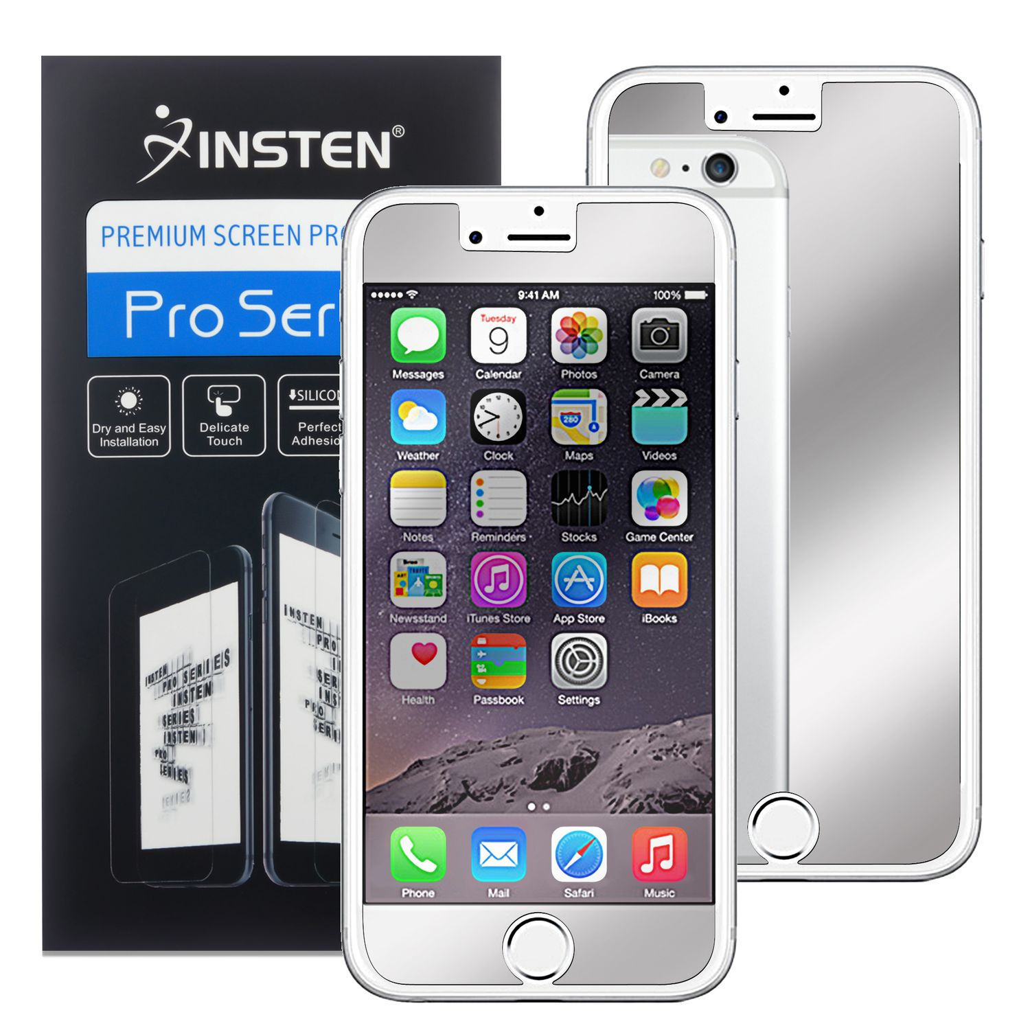 """2 x Mirror Screen Protector LCD Film Guard For Apple iPhone 6 6S 4.7"""" 4.7 Inches by Insten"""
