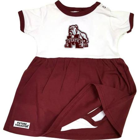 Mississippi State Bulldog Baby Onesie Dress
