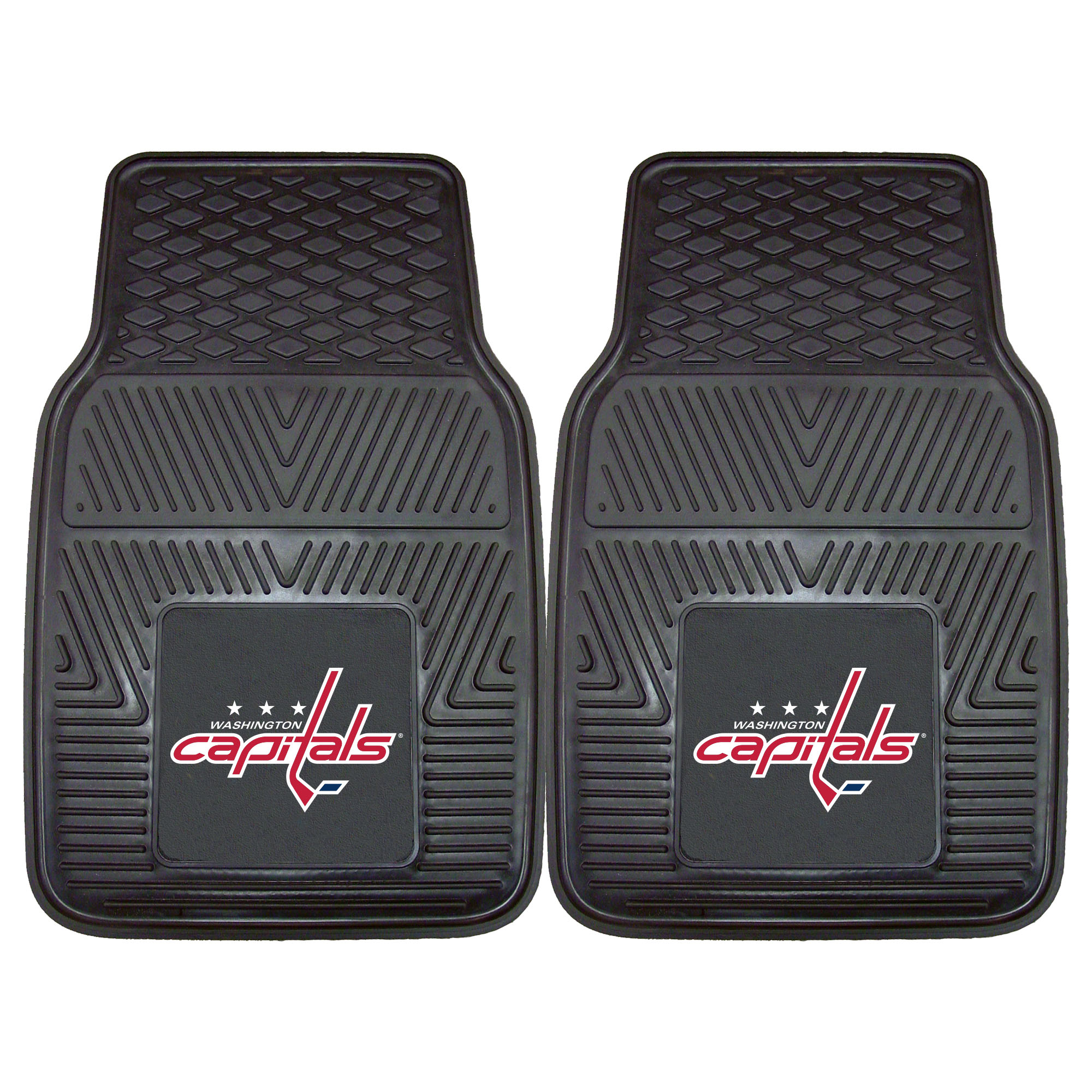 NHL Washington Capitals 2-PC Vinyl Front Car Mat Set, Universal Size