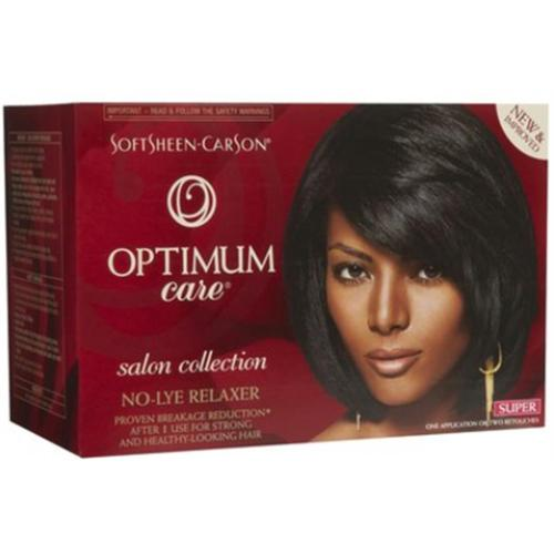 Optimum Care Salon Collection Anti-Breakage No-Lye Relaxer System, Super 1 kit (Pack of 3)