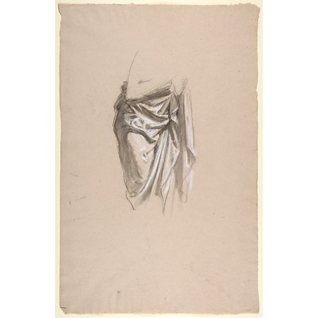 Drapery Study For Clovis  Middle Register Study For Wall Paintings In The Chapel Of Saint Remi Sainte Clotilde Paris 1858  Poster Print By Isidore Pils  French Paris 181315   1875 Douarnenez   18 X 24