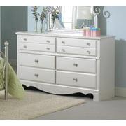 Standard Furniture Spring Rose 54 Inch Dresser in White