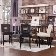 INSPIRE Q Mendoza Keyhole Counter Height Stool (Set of 2) Brown Faux Leather