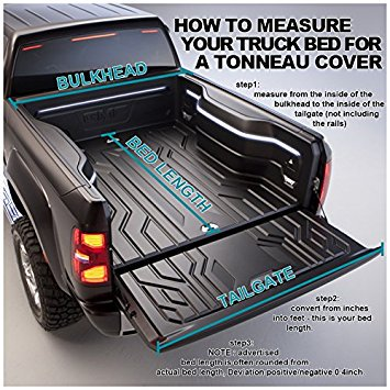 Toyota Tacoma Double Cab 5ft Short Bed Tri-Fold Tonneau - 04 Tacoma Short Bed