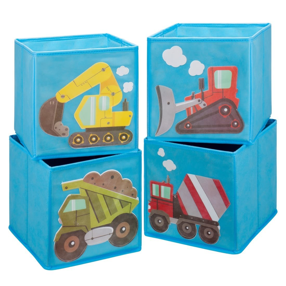 Ava U0026 Kings Foldable Fabric Storage Cube Container Bins Shelf Drawers   Kidsu0027  Light Blue