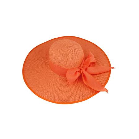 Lady Women Skirt Accessories Orange Strap Design Straw Wide Braide - Womens Accessories Shop