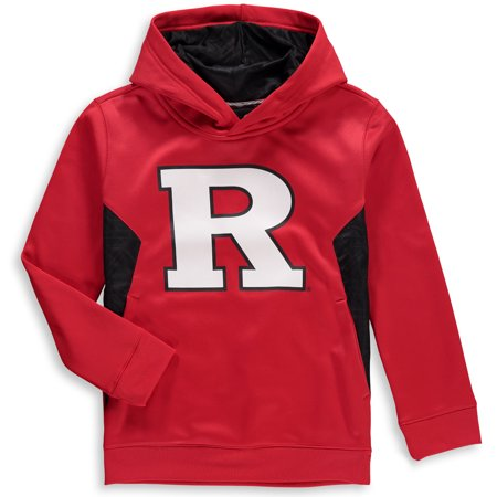 Rutgers Scarlet Knights Youth Shattered Poly Pullover Hoodie - Red