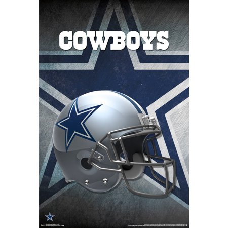 Dallas Cowboys Helmet 22'' x 34'' Logo Poster - No Size