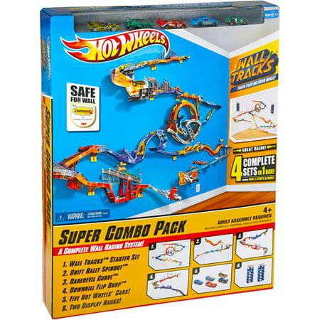 Hot Wheels Ultimate Wall Tracks World Starter Play Set Walmart