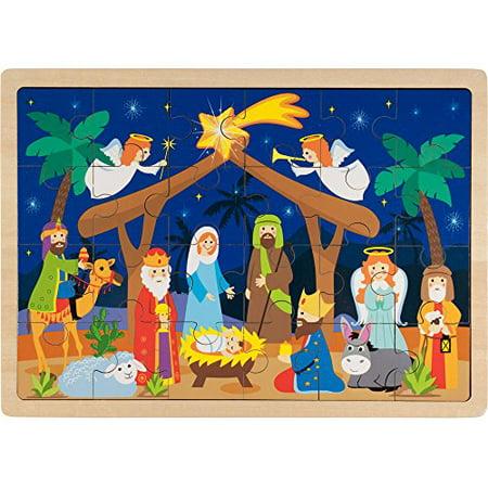 Imagination Generation O Holy Night Wooden Nativity Inset Jigsaw Puzzle, 24 - Nativity Jigsaw