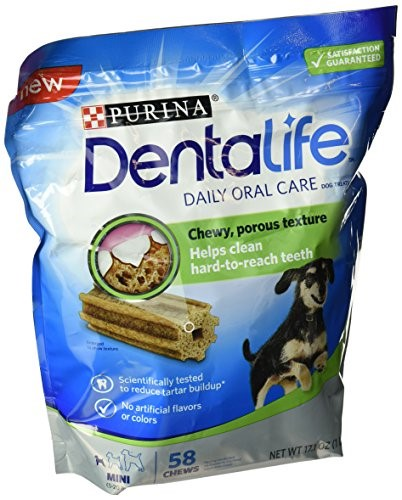 Purina DentaLife Daily Oral Care Mini Dog Treats 58 ct Pouch by Nestle Purina Petcare Company