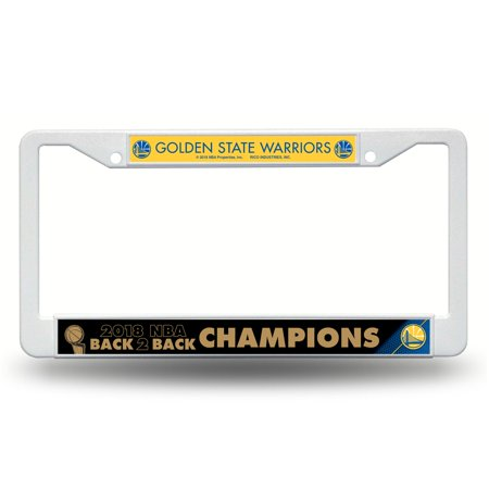 National Champions License Plate - Golden State Warriors Official NBA 2018 National Champions License Plate Frame Plastic by Rico 387387