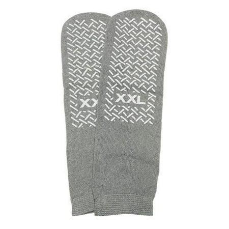 Slipper Socks XXL Grey Pair Mens 12-13