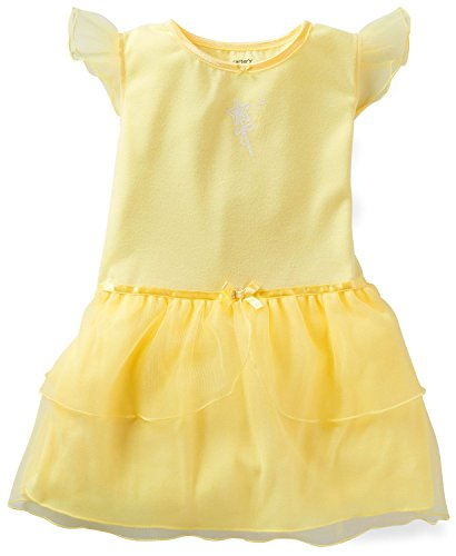 Carter's Little Girls' Princess Tulle Nightgown Yellow Fairy Wand 6-7