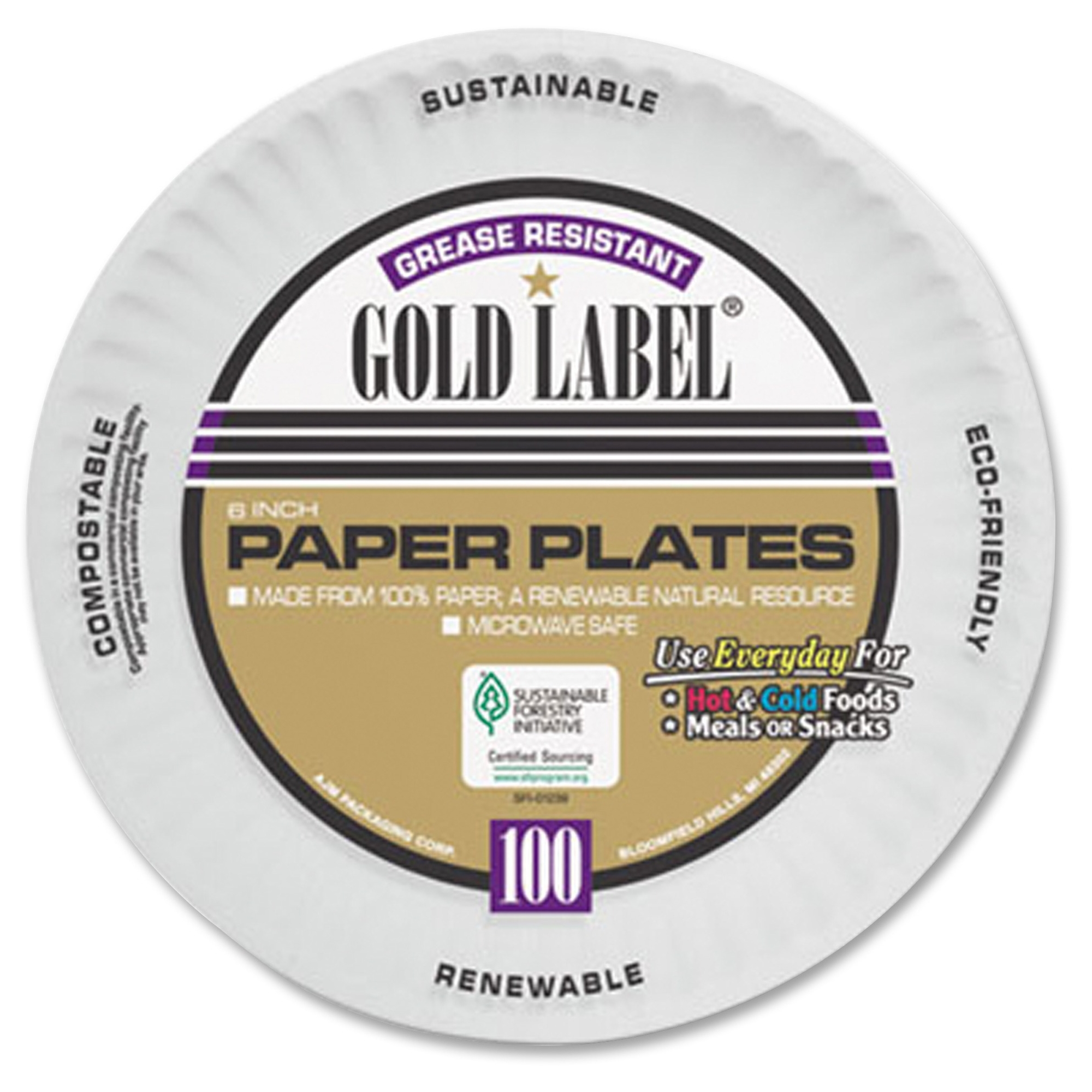 Solo CP6OAWH Coated Paper Plates 6 Inches White Round 100/pack - Walmart.com  sc 1 st  Walmart.com & Solo CP6OAWH Coated Paper Plates 6 Inches White Round 100/pack ...