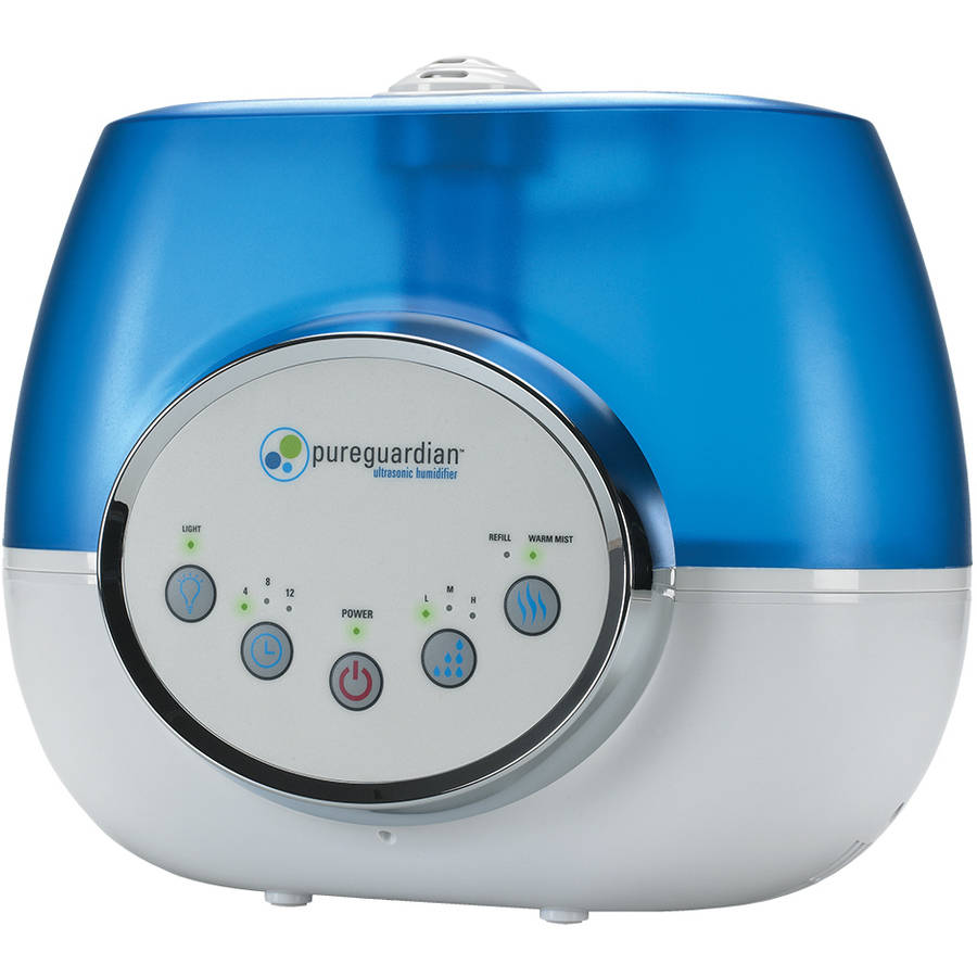 PureGuardian H1610 100-Hour Ultrasonic Warm and Cool Mist Humidifier, Digital, 1.5 Gallons