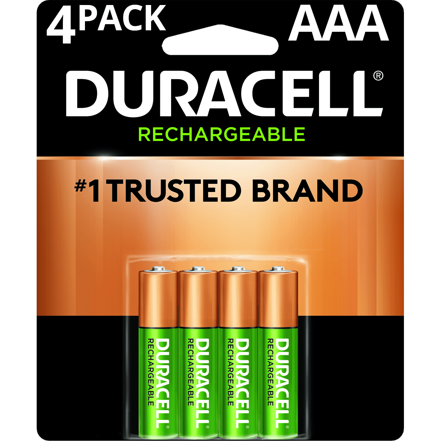 Duracell 1.2V Rechargeable AAA Batteries, 4 Pack
