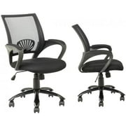 Black Ergonomic Mesh Computer Office Desk Task Chair w/Metal Base H12 Sets of 2