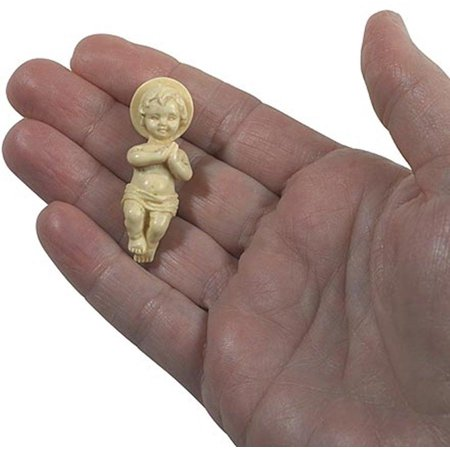 Jesus Christ Child Figurine 1 3/4 Inch Plastic Baby for Nativity Set or Kings Cake, Pack of 3