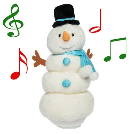 Simply Genius Singing Dancing Snowman, Animated Christmas Plush, Stuffed Animals, Christmas Toys, Animated Christmas Decorations ()