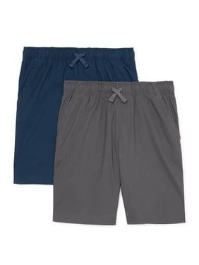 Wonder Nation Boys Everyday Shorts 2-Pack, Sizes 4-18 & Husky