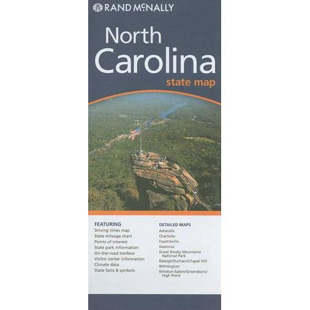 Rand mcnally north carolina state map - folded map: 9780528881824