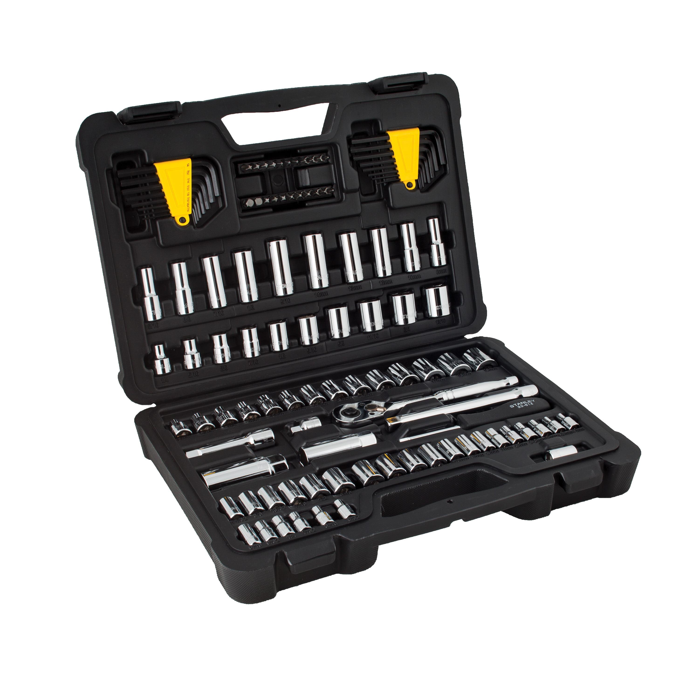 STANLEY 105-Piece Chrome Mechanics Tool Set, STMT81271WMT