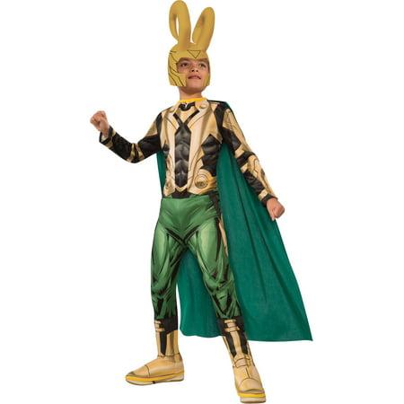 Kid's Boys Loki Marvel Avengers Costume With Cape And Helmet