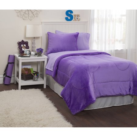 Latitude Lavender Royal Plush Reverse To Sherpa Bed In A
