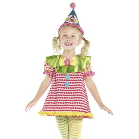 Smiffys Kids Circus Clown Outfit Girls Halloween Costume - Clown Outfit