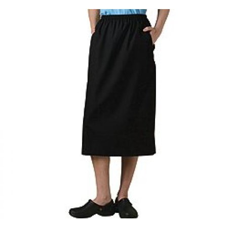 Fundamentals by White Swan Women's Elastic Waist Solid Scrub Skirt XX-Large Black](Black Swan White Swan Halloween)