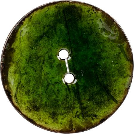 """Blumenthal Organic Elements-Coconut Buttons 2-1/2"""" 1/Pkg-Green - image 1 de 1"""
