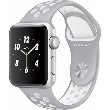 Apple Watch Nike  38Mm Silver Aluminum Case Silver White Nike Sport Band
